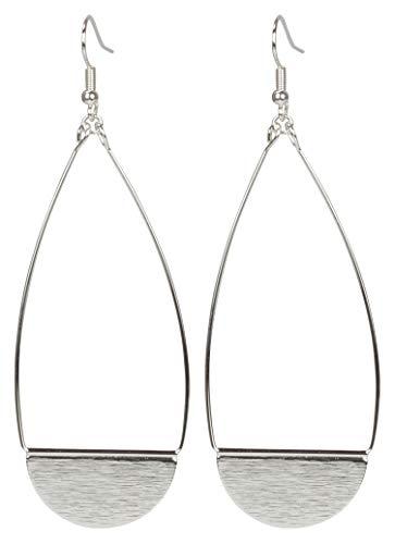 Shield Earring (Large Silver)