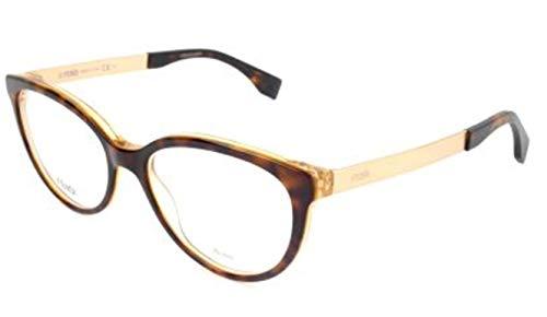 Fendi FF 0079 DVO/17 -53 -17 -140 Fendi Brillengestelle FF 0079 DVO/17 -53 -17 -140 Schmetterling Brillengestelle 53, Braun