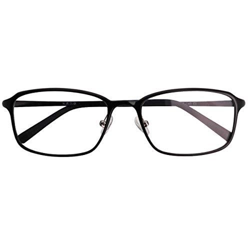 SHOWA 遠近両用メガネ ウルテムツインズ スクエア (メンズセット) 全額返金保証 境目のない 遠近両用 眼鏡 老眼鏡 おしゃれ メンズ 男性 リーディンググラス (瞳孔間距離:57mm〜59mm, 近くを見る度数:+3.0)