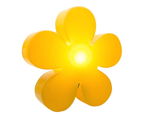 8Seasons Fleur lumineuse ø 40 cm Moderne 40 cm jaune
