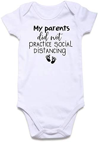BFUSTYLE Baby Boy Girl Announcement Onesie My Parents did not Practice Social distancing Print product image