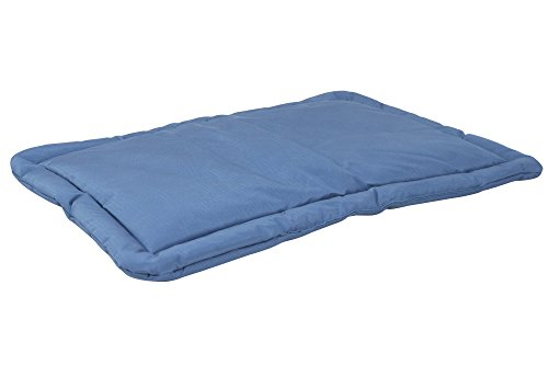 K9 Ballistics Tough Dog Crate Pad - Washable, Durable and Waterproof Dog Crate Beds - Small Dog Crate Mat, 29.5'x18.5', Blue