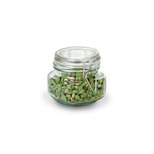 Anchor Hocking 17-Ounce Glass Jar with Hermes Clamp Top Lid, Set of 4, Clear -