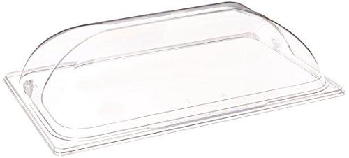 Winco Polycarbonate Dome Flip Cover, Full Size, Medium, Clear