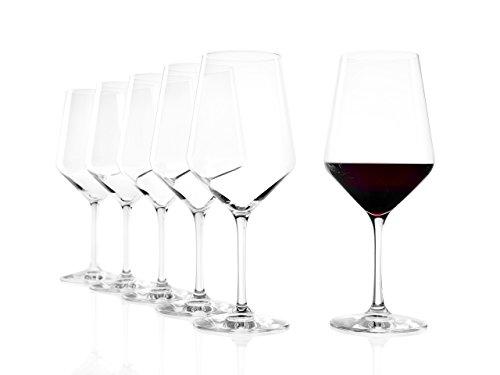 Stölzle Lausitz Rotweinglas Bordeaux Revolution, 650 ml, 6er Set Weinglas, hoch Funktionelle Rotweinkelche für Tannin- und alkoholreiche Rotweine, spülmaschinenfest