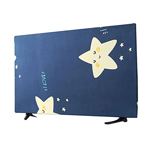 GXGR Cubierta de Polvo de TV de Servicio Pesado TV de Impermeable Impermeable a Prueba de Polvo Duración Duradera Exterior Protector de televisión,Azul,32 in
