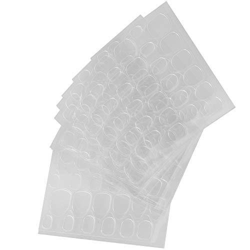 You&Lemon 10 Hojas 240PCS Adhesivo de Pegamento para Uñas Adhesivo de Pegamento de Doble Cara Jalea para Uñas Pegatinas de uñas falsas Consejos de Uñas Falsas