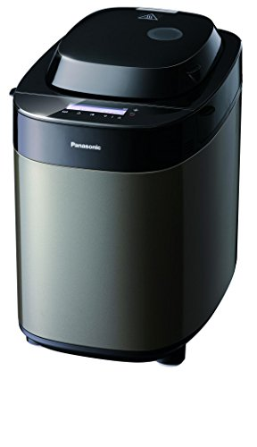 Panasonic Brotbackautomat mit 2 Knethaken SD-ZX2522 (Brotmaschine, 37 Backprogramme mit Spezialprogrammen für Brot, Kuchen, Nudelteig und Marmeladen), dunkler Edelstahl