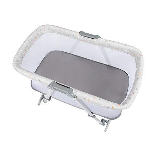 Safety 1st Morning Star, cuna plegable para bebé, bolsa de viaje incluida, apta para uso desde el nacimiento hasta los 9 meses, geométrica