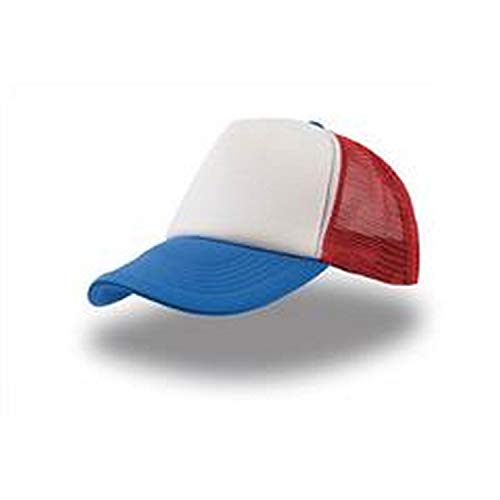 Atlantis Rapper 5 Panel Trucker Cap - White/Red/Royal - OS