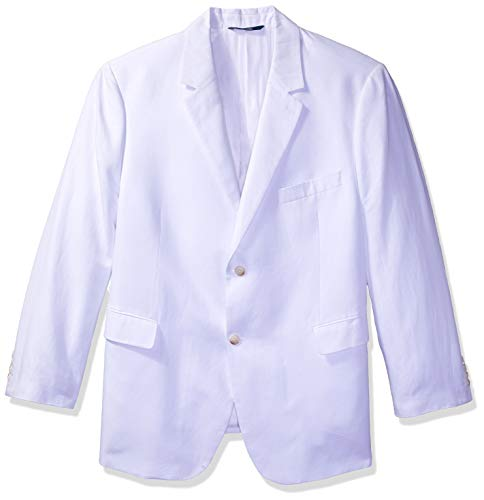 Perry Ellis Men's Linen Suit Jacket, Bright White, 42/Large