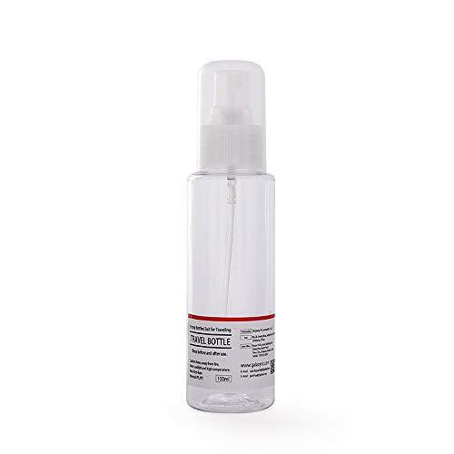 Lot de 5 flacons vaporisateurs en plastique transparent 30 ml, 50 ml, 80 ml, 100 ml