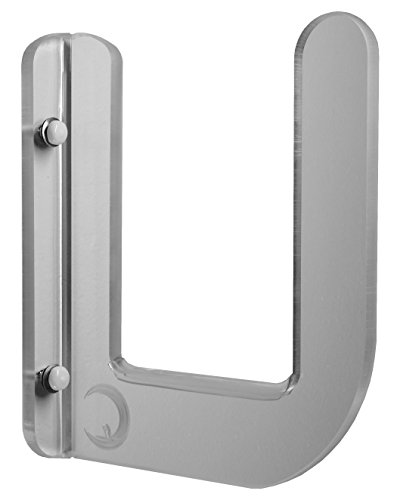 """Clear Acrylic SUP Wall Rack Clear Acrylic with 5"""" Gap Holds Most SUPs. Store your SUP in tight spaces easily and beautifully come complete with clear anti-ding padding!"""