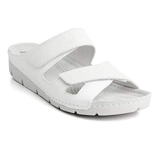 Batz EMILIA Licht en Flexibel Handgemaakte Hoogwaardige Lederen Sandalen Klompen Muilezels Slippers Schoenen Dames