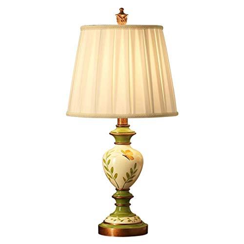 HYY-YY Iluminación decorativa, Reading lámpara- de noche y lámparas de mesa dormitorio de la lámpara lámpara de cabecera Europea Calentar pintado a mano romántica sala de mesa Lámpara creativa del jar