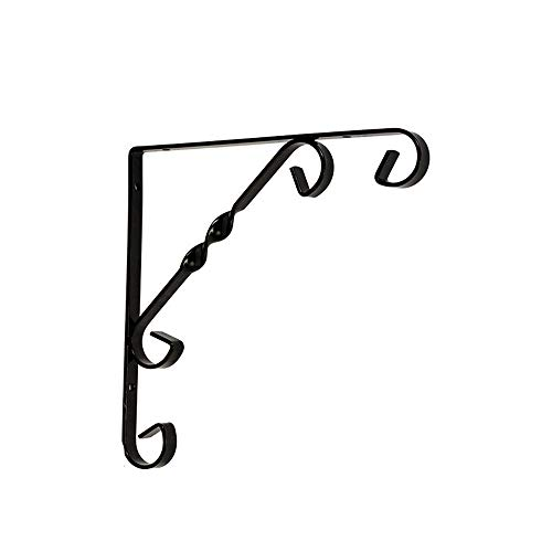 QLJJ Wall-Mounted Table Shelf Shelf Brackets Triangle Shelf Supports For Home And Garden for Table Work Bench (Color : Black, Size : M)