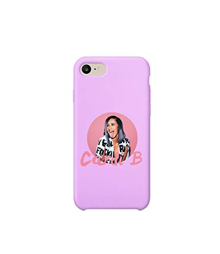Cardi B Rap Music Legend Pink Girl_MA0913 Case for iPhone 6, Protective Phone Mobile Smartphone Case Cover Hard Plastic for Compatible with iPhone 6 iPhone 6s