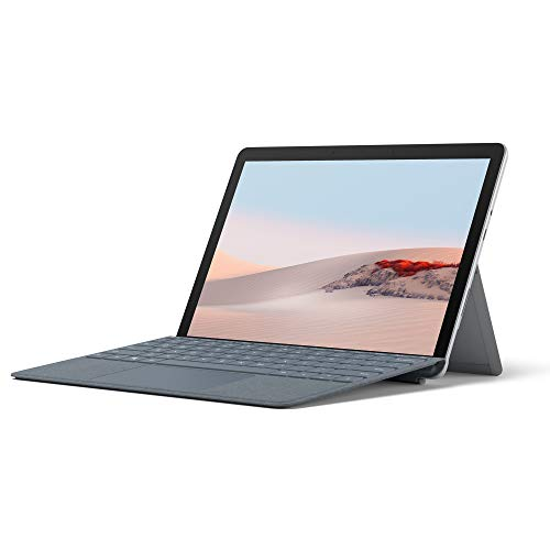 Microsoft Surface Go 2, 10 Zoll 2-in-1 Tablet (Intel Pentium Gold, 8 GB RAM, 128 GB SSD, Windows 10 Home S) + Surface Go Signature Type Cover Eisblau