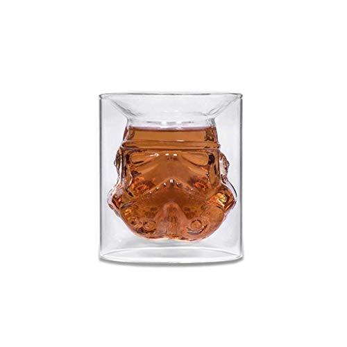 XJQ Kreative Star Wars Storm Trooper, Dekanter Hohe Borosilikatglas Weinflasche Whiskyglas für Whisky Brandy Bier (Farbe: 1pcs Cup)