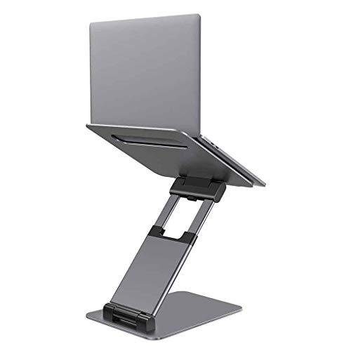 Supporti per Notebook Supporto per Laptop, Supporto per Laptop Ergonomico Portatile Seduto E in Piedi, Altezza Regolabile da 2,1 a 13,8 , Compatibile con Tutti I Tablet da 10-17  (Color : Gray)
