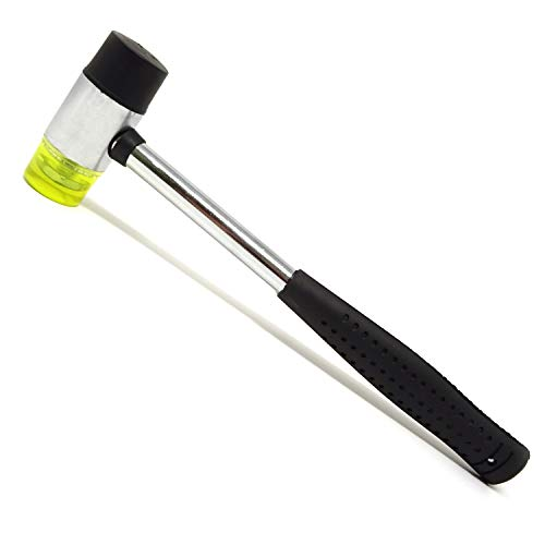 Honbay Dual Head Nylon Rubber Hammer Soft Mallet for Jewelry, Leather Crafts, Woodworking and More (30mm)