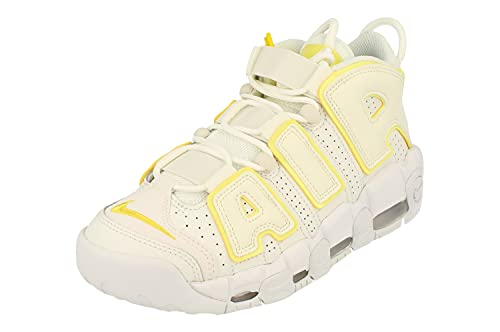 Nike Mujeres Air More Uptempo Trainers DM3035 Sneakers Zapatos (UK 3.5 US 6 EU 36.5, Summit White OPTI Yellow 100)
