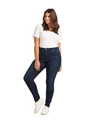 Zizzi Damen Große Größen Super Slim Amy Jeans mit hoher Taille Gr...