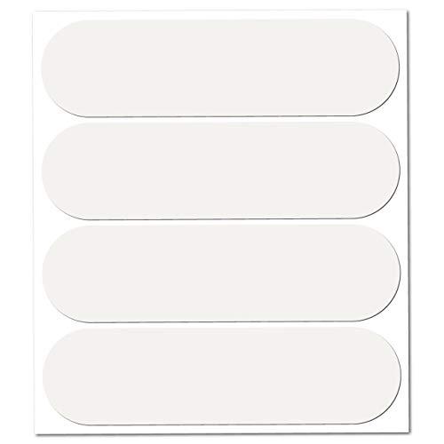 B REFLECTIVE, 4 Stück Kit reflektierende Aufkleber, Nacht Sicherheit Signalisierung Klebeband Reflektor, für Motorradhelme/Motorrad/Motorroller/Fahrrad/Kinderwagen, 8,5 x 2,3 cm Band, weiß