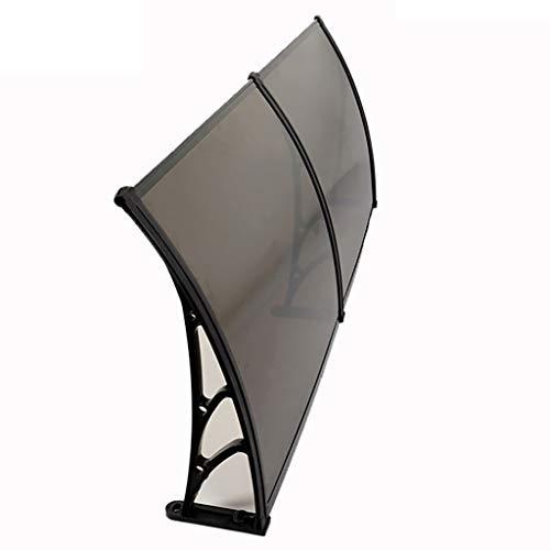 WXQIANG Türüberdachung, PC Polycarbonat Markise Regen Schutz for Haustür Veranda und Fenster (Size : 80×160cm)