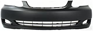 Front Bumper Cover Compatible with 2005-2008 Toyota Corolla Primed CE/LE Models