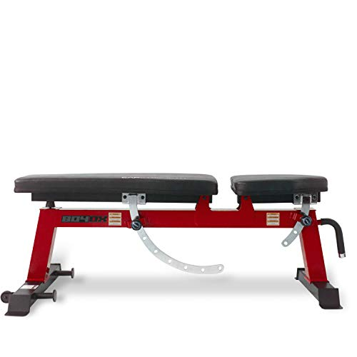 CAP Barbell Deluxe Utility Weight Bench, Red (FM-CS804DX-RD)