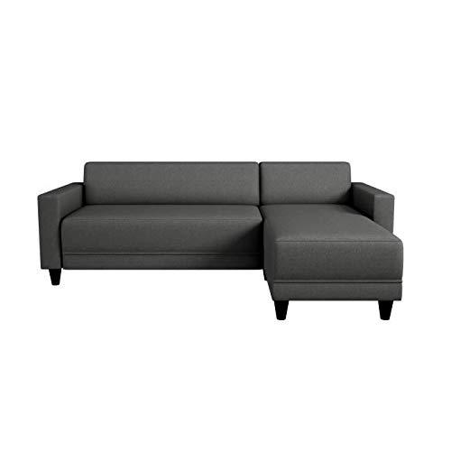 Canapé d'angle 3 places Gris Tissu Pas cher Contemporain