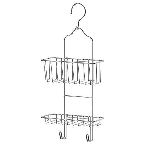IMMELN Duschablage mit zwei Ebenen, Aufhänger, Organizer, verzinkt, 24 x 53 cm