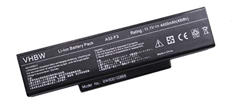 vhbw Akku passend für chiliGREEN Mobilitas AJ, ME2, MU3, MP, MK, CU C5-665, Clevo M660 Laptop Notebook - (Li-Ion, 4400mAh, 11.1V, 48.84Wh, schwarz)