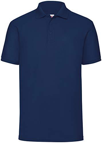 Fruit of the Loom 65/35 Polo Shirt NEU, Farbe:Navy, Größe:5XL