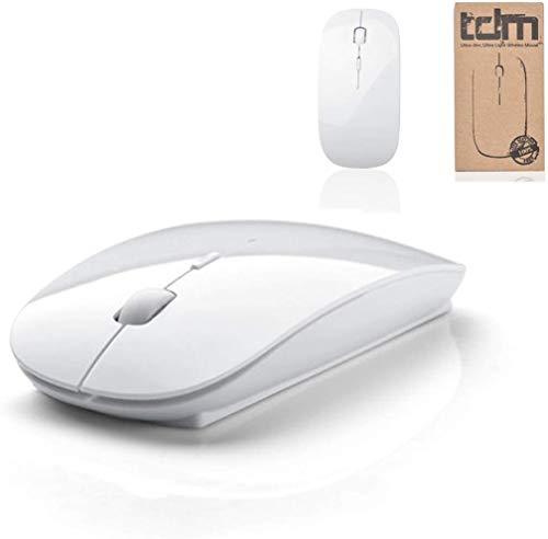 Tedim Ultra Slim/S Optische Maus, kabellos, für Apple MacBook/Notebook, Weiß