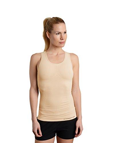 Strammer Max Racerback Tanktop, atmungsaktives Kompressionshirt (hochwertiges Meryl Skinlife Gewebe), Farbe: Nude (S)