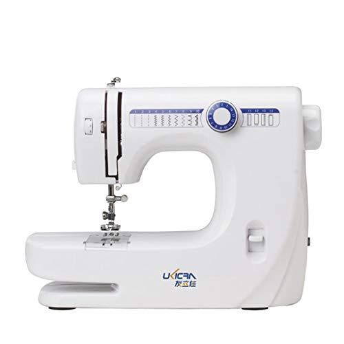 PDX Freiarm-Nähmaschine Nähmaschine Anfänger Einsteiger 14 Nähprogramme Violett und Weiß
