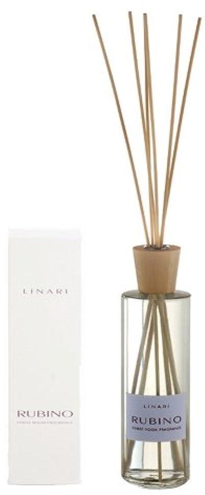 揃える辛な物理的なLINARI リナーリ ルームディフューザー 500ml RUBINO ルビーノ ナチュラルスティック natural stick room diffuser