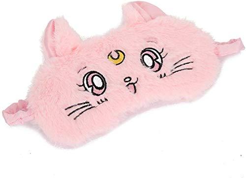 SLM-max Cartoon-Katze Schlaf-Augen-Schablone, Mädchen-Herz-Rosa Home Reise Schlaf Blackout Brille Netter Kopfschmuck