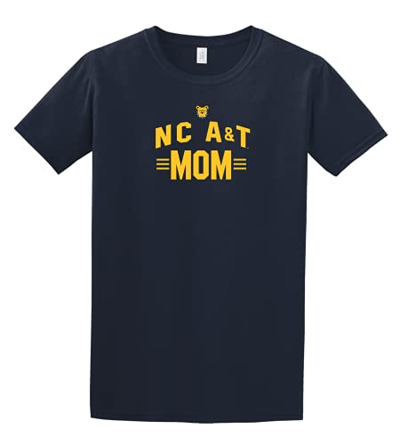 North Carolina A&T State University Aggies Big Arch Mom T-Shirt Navy