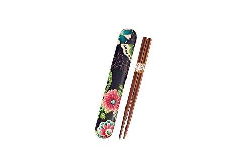Chopstick case set paradise purple 53 644 18.0 the bonded cloth HAKOYA (japan import)