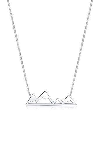 Elli Halskette Damen Berge Reise Cut-Out in 925 Sterling Silber
