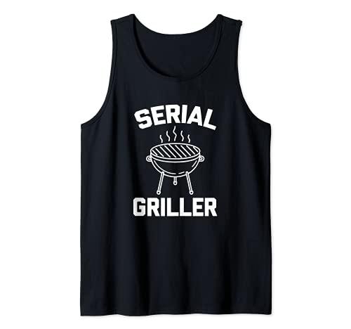 T-shirt humoristique pour barbecue avec inscription « Serial Griller » Débardeur