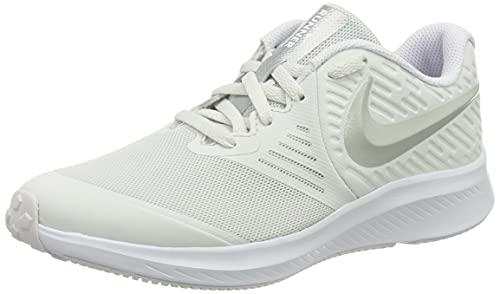 Nike Star Runner 2 GS, Zapatillas Deportivas, Platinum Tint Mtlc Platinum Lt...