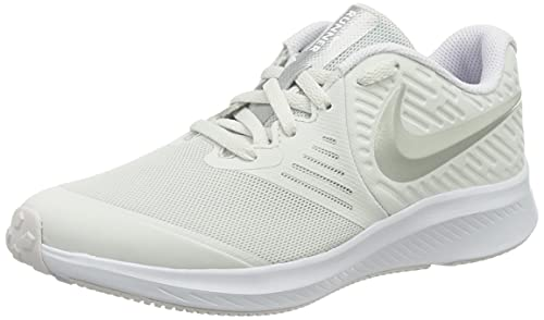 Nike Star Runner 2 GS, Zapatillas Deportivas, Platinum Tint Mtlc Platinum Lt Violet White, 39 EU