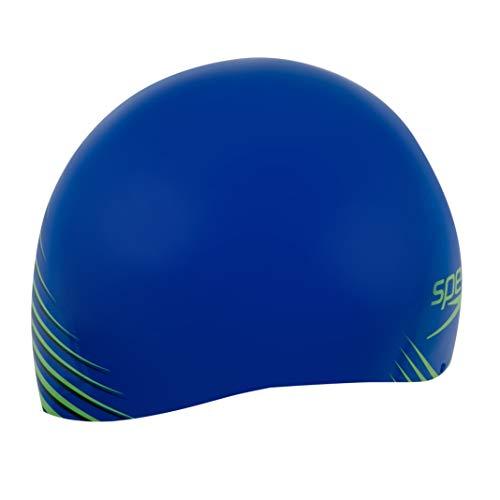 Speedo Fastskin Gorro de natación, Unisex-Adult, Blue Flame/Bright Zest/Navy, S