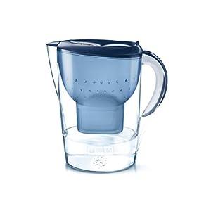 BRITA Wasserfilter Marella XL blau inkl. 1 MAXTRA+ Filterkartusche – Extra großer BRITA Filter zur Reduzierung von Kalk, Chlor & geschmacksstörenden Stoffen im Wasser