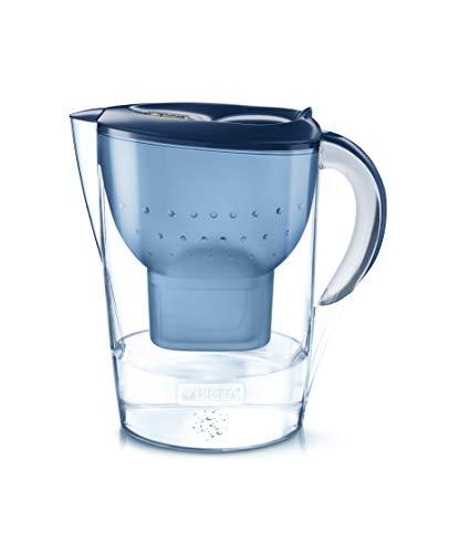 BRITA Wasserfilter Marella XL blau inkl. 1 MAXTRA+ Filterkartusche – Großer BRITA Filter zur Reduzierung von Kalk, Chlor & geschmacksstörenden Stoffen im Wasser