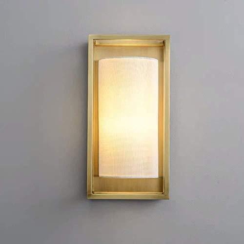 lámpara de pared Lámpara de pared creativo de la sala Telón de fondo del restaurante Pasillo de entrada Pasillo Dormitorio lámpara de cabecera de latón lámpara de pared de 20 * 11 * 40cm cubierta ilum